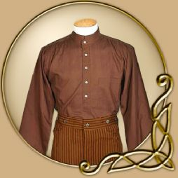 Costume -Short Collared Brown Shirt
